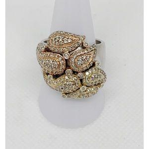 Sonia B Bitton Sterling CZ Ring Size 10